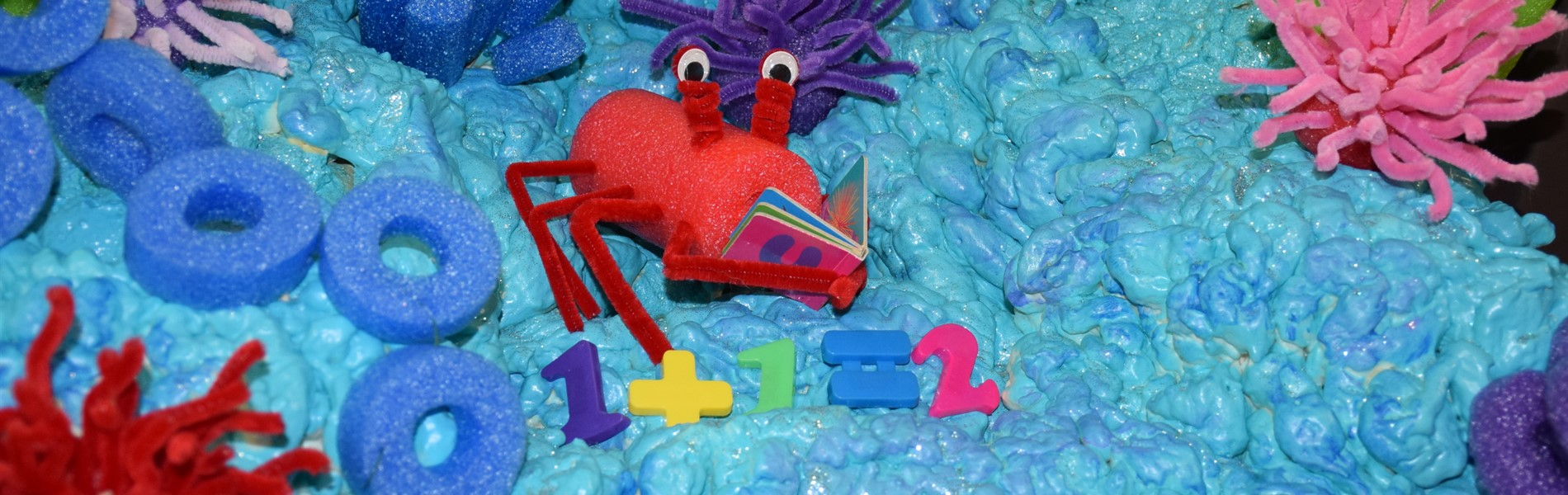 Lobster enjoying a book