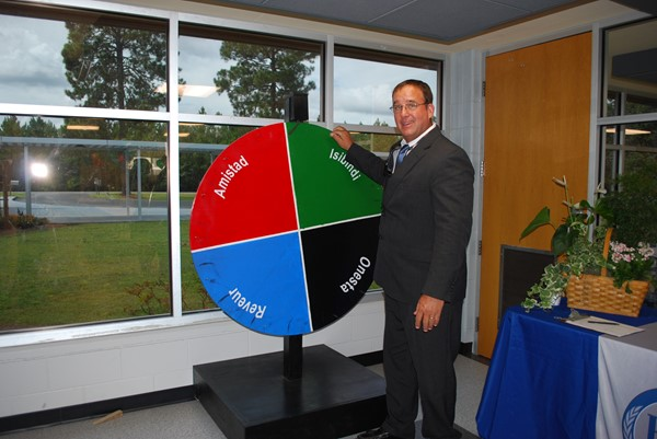 Mr. Randy Dixon spins the house wheel!