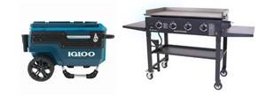 cooler and griddle