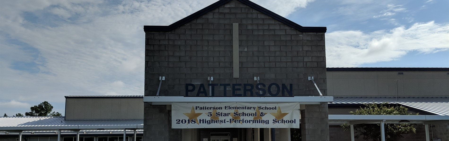 Front entrance of Patterson Elementary