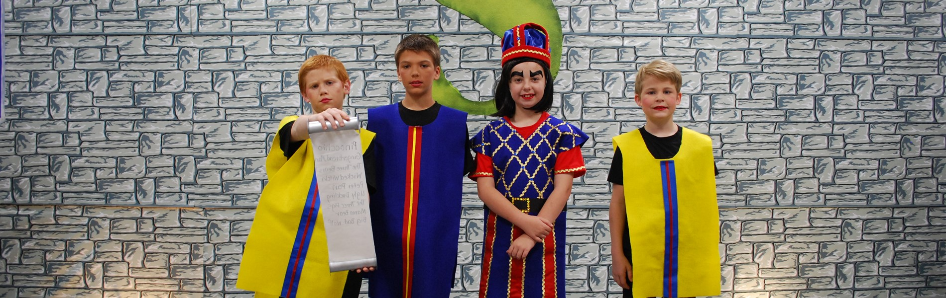 Lord Farquaad and his Knights from Shrek the Musical Jr.